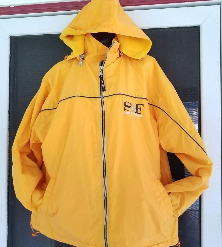 San Francisco Coat Jacket Medium Lined With Hood Golden Gate Bridge Andys  Sports  AndysSportswear 41deb32db1