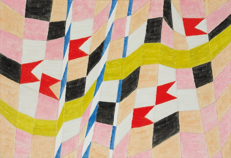 Bandeirinhas Com Mastros E Fitas Alfredo Volpi Volpi Alfredo
