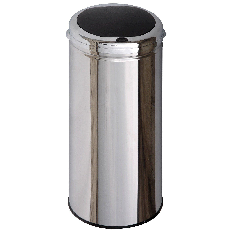 poubelle de cuisine manuelle selekta plastique inox 40 l