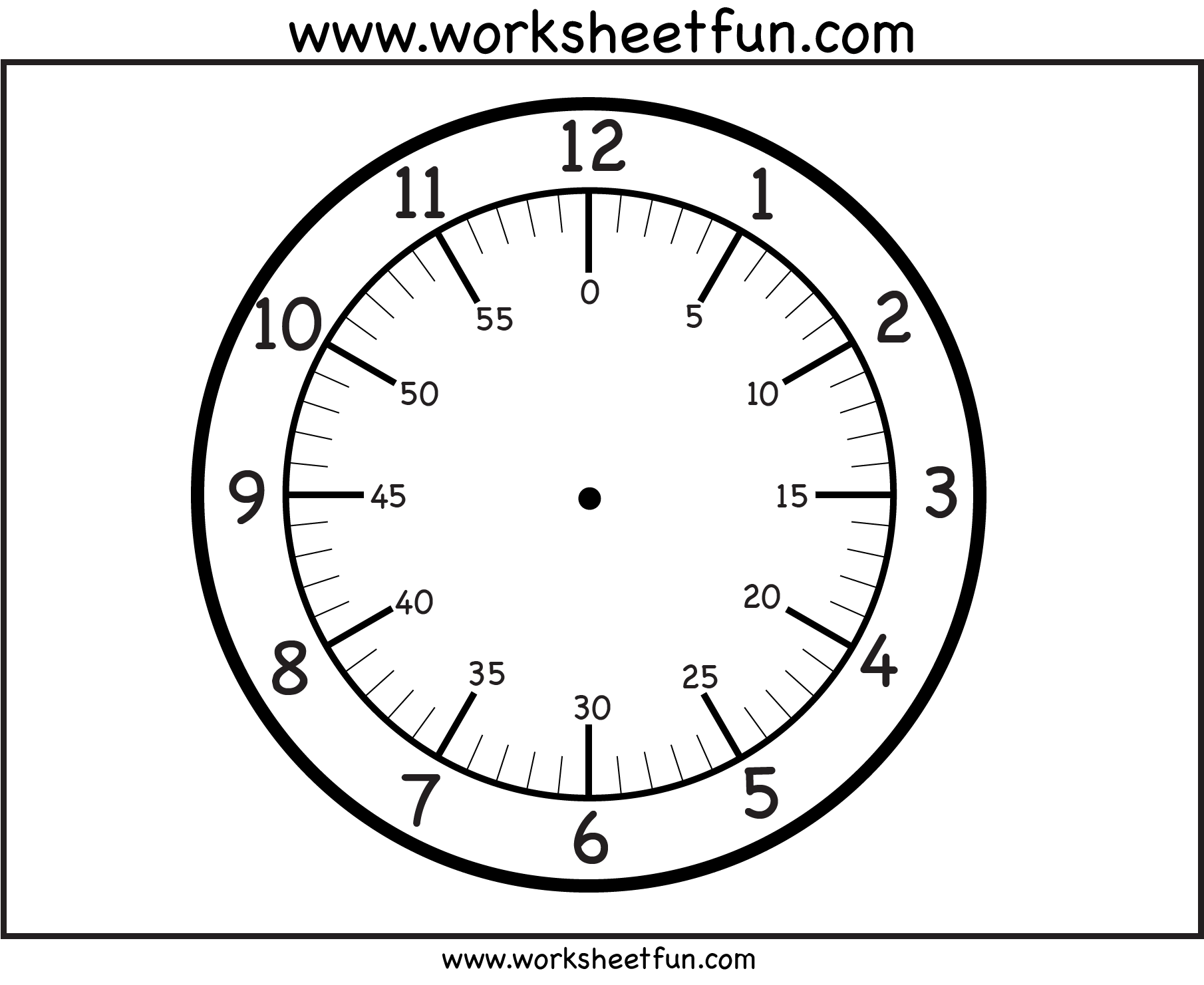 Printable Clock Face With Images