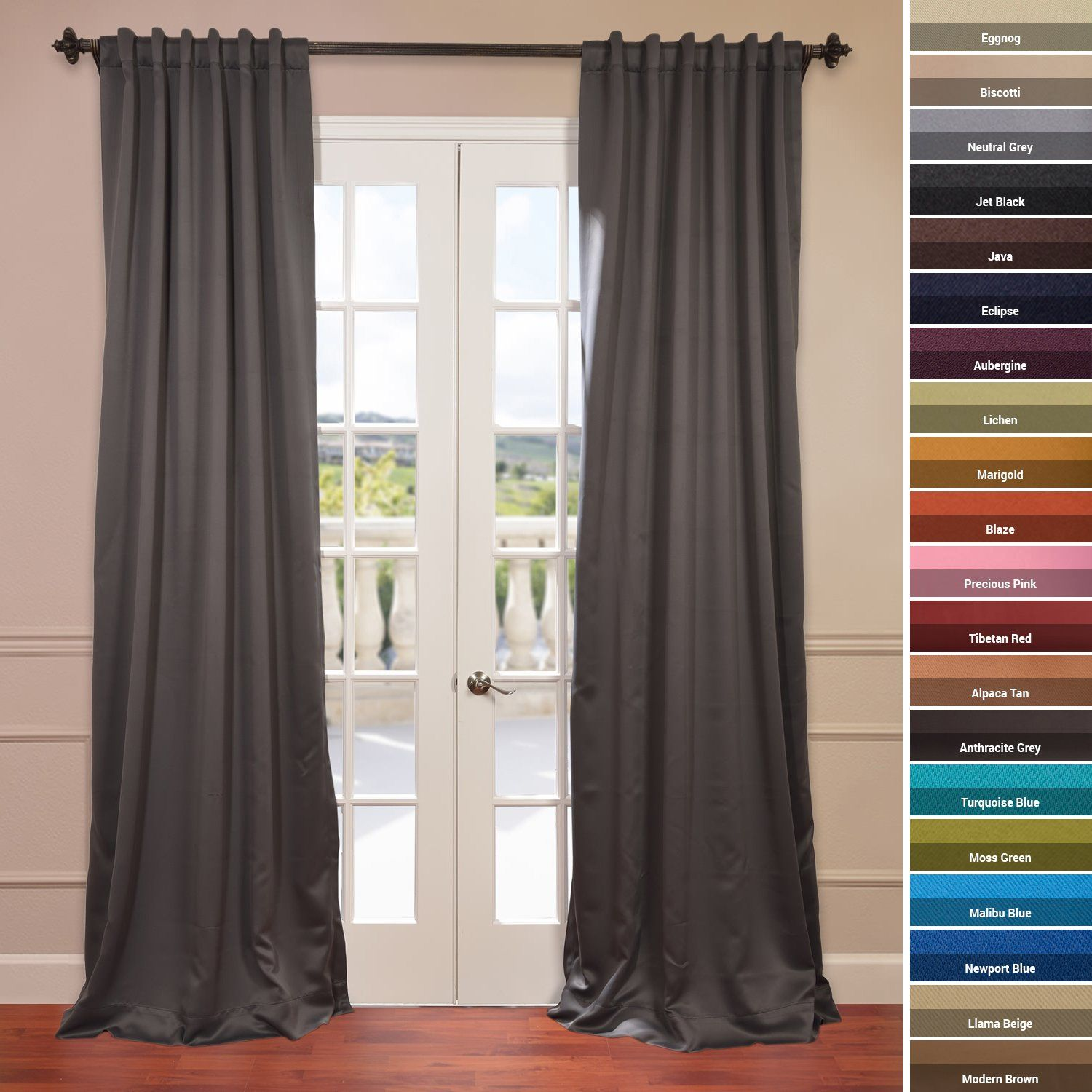 Amazon Blackout Curtain Neutral Grey Grey Window