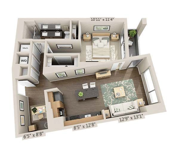 Flats Floorplans Silver Spring Apartments For Rent One Bedroom House Floor Plans Interior Design Plan
