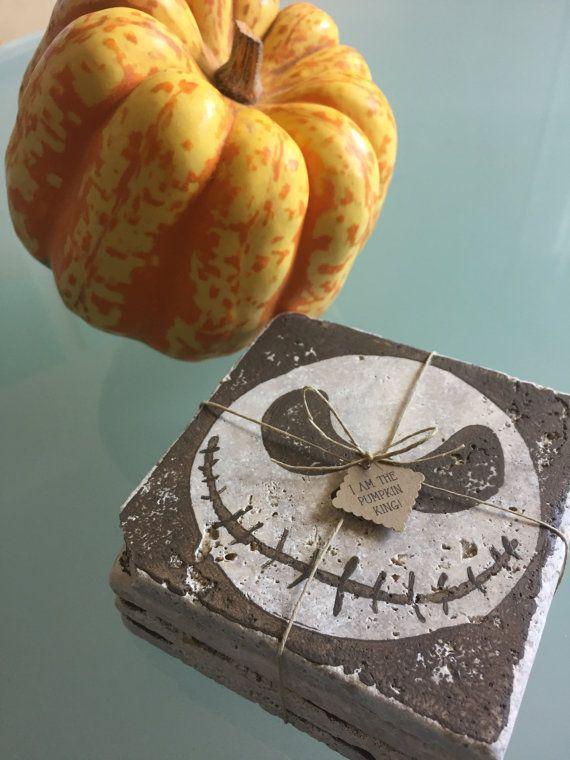 Nightmare Before Christmas Coasters- handmade! Jack Skellington