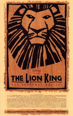 The Lion King The Broadway Musical - Broadway Poster Impressão de alta qualidade