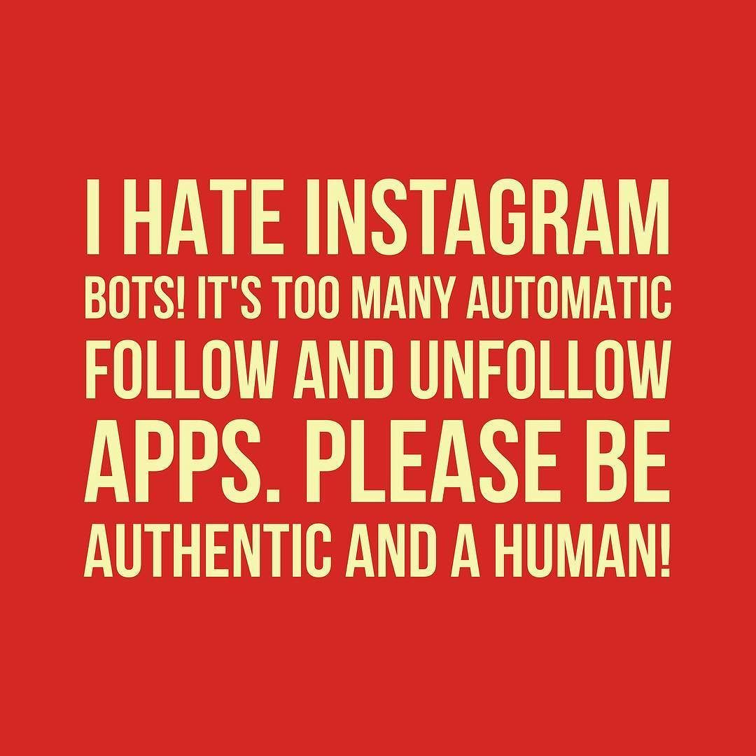 Please be Authentic and STOP using Automatic FOLLOW AND