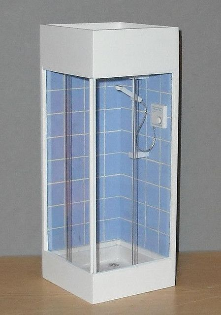 Dollhouse Blue Shower Closed My Obsession With Tiny Things