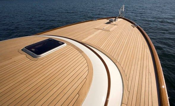 Composite floor replacement boat f… synthetic teak