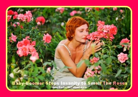 Baby-boomer stops insanity to smell the roses. http://CarlaJGardiner.com