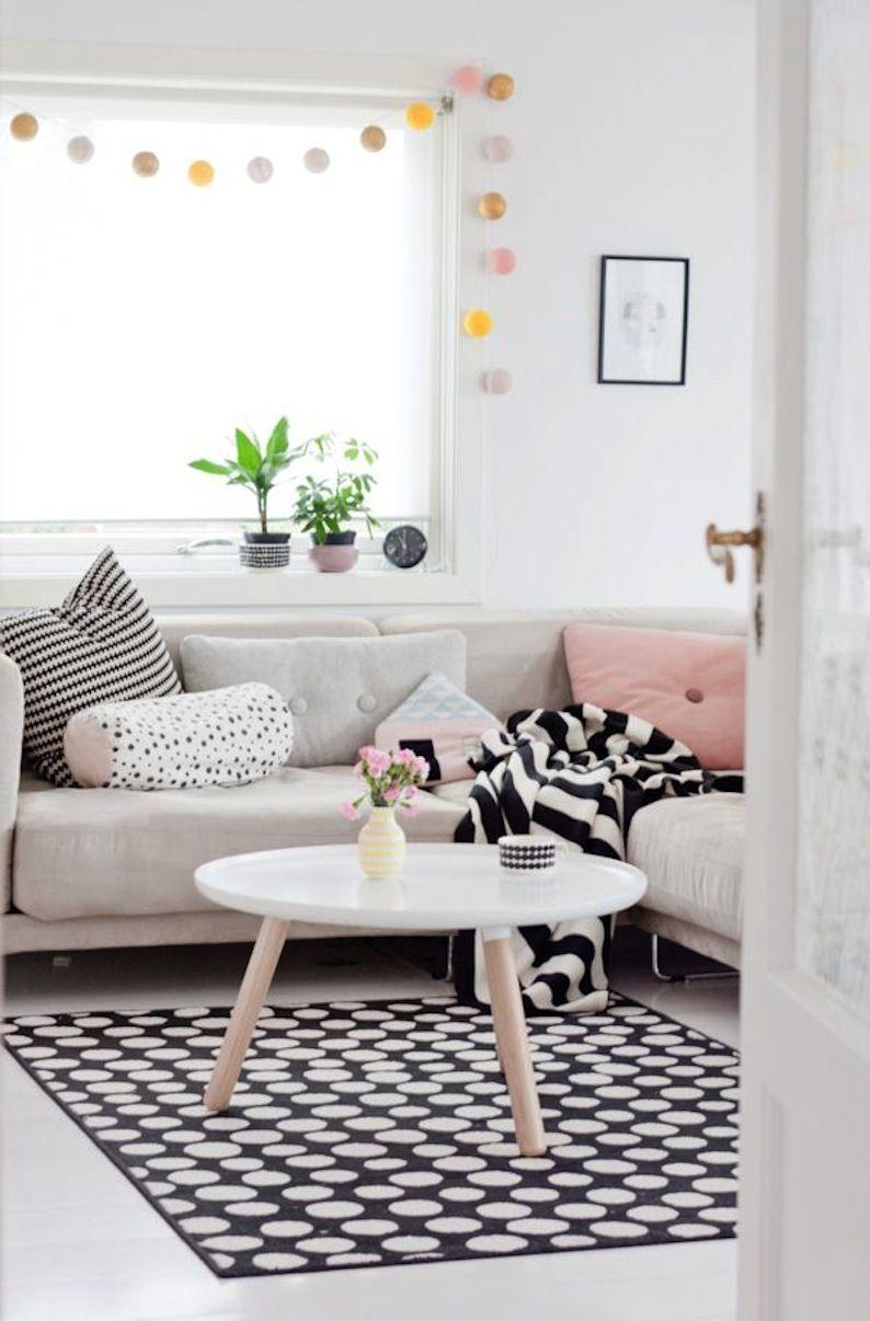 Salon épuré au style scandinave ! http://www.m-habitat.fr/par-pieces ...