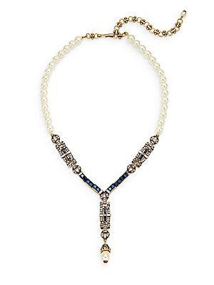 Fine Line Deco Drop Necklace