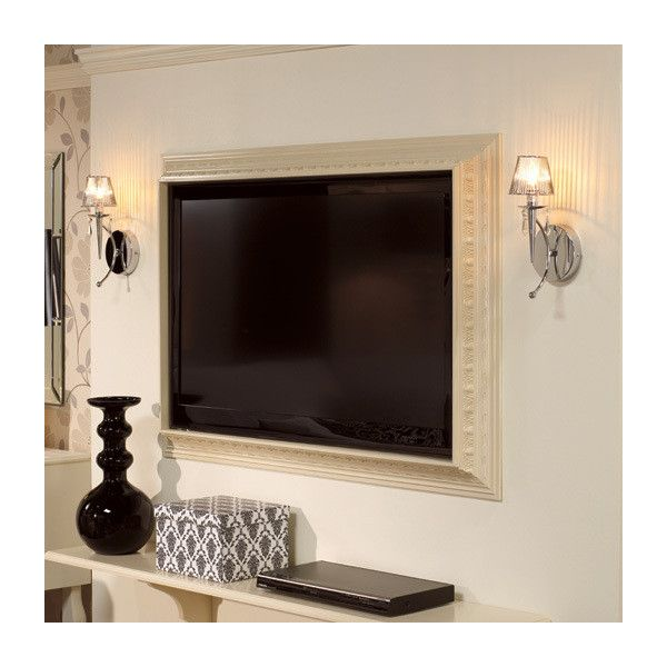 Make a picture frame for flat-screen TV - just use crown molding ...