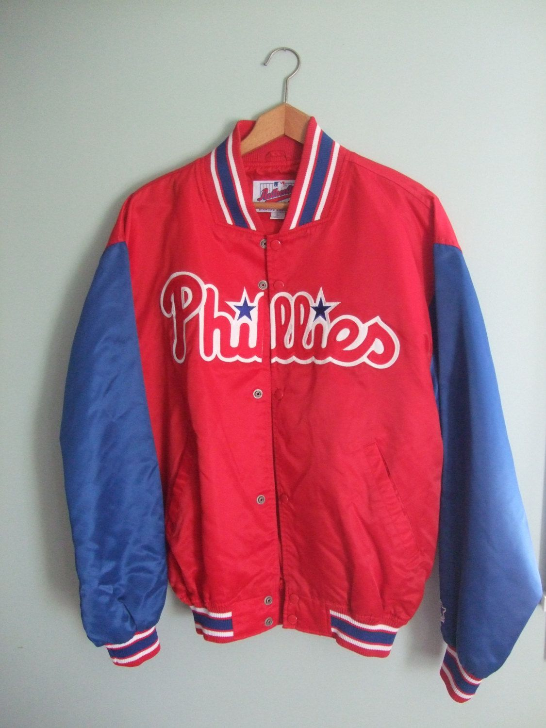 Vintage Phillies Starter #Jacket Authentic Diamond Collection #Men's #Large,  View more on the LINK: http://www.zeppy.io/product/gb/3/229090590/