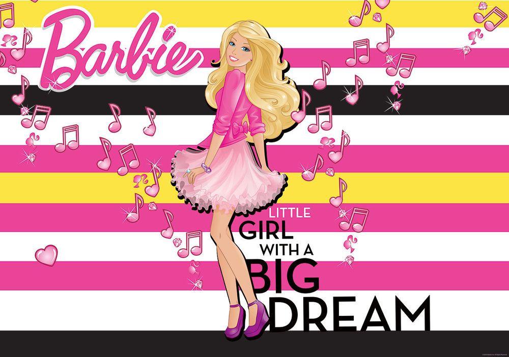 Best Wall Murals Wallpaper Coverings Decorations Non Woven Barbie Loves Music 1253Ve Dekoshop2012 400 x 300