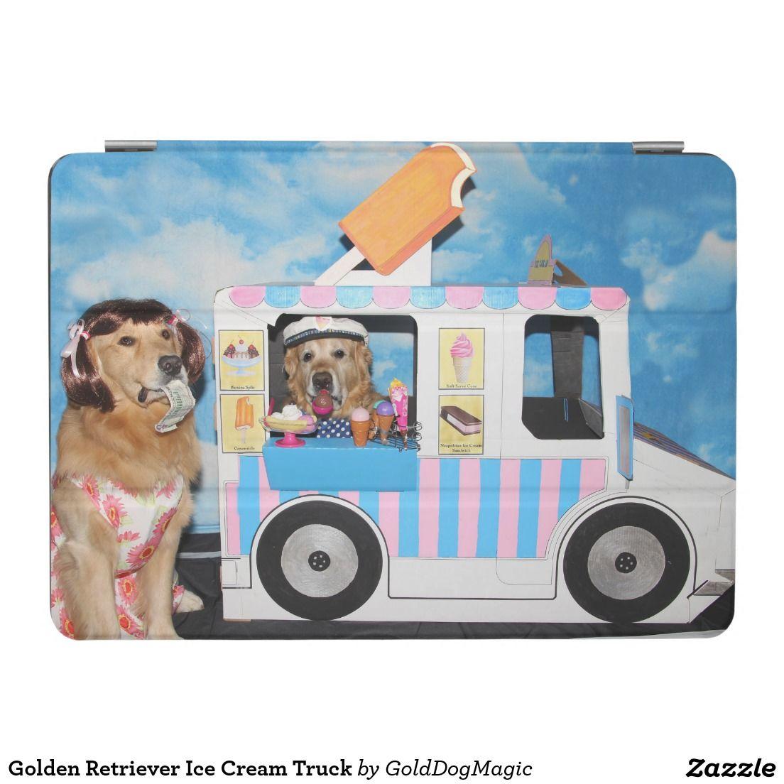 Golden Retriever Ice Cream Truck iPad Air Cover