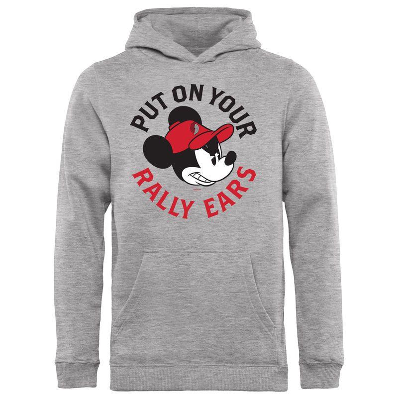 cee96fdb1ca Youth Fanatics Branded Ash Portland Trail Blazers Disney Rally Ears  Pullover Hoodie