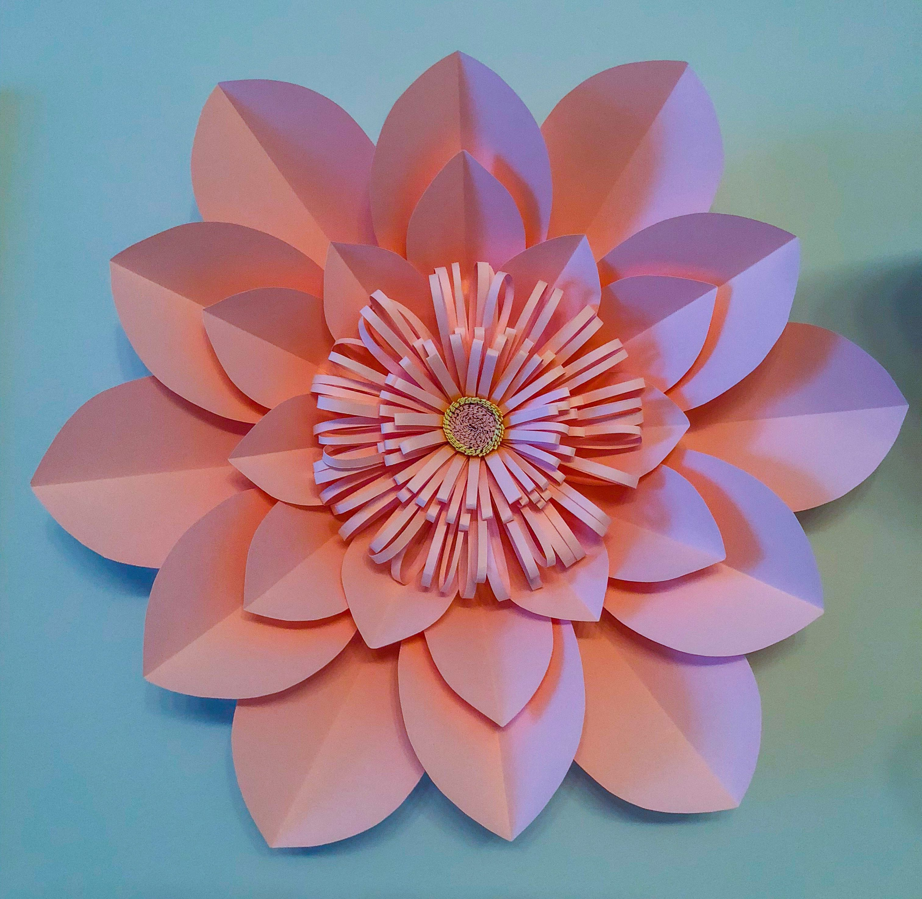 Giant Pink Paper Flower By Amburoha Backdrop Flower Decoration