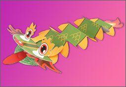 Kai-lan Dragon Table Topper Puppet