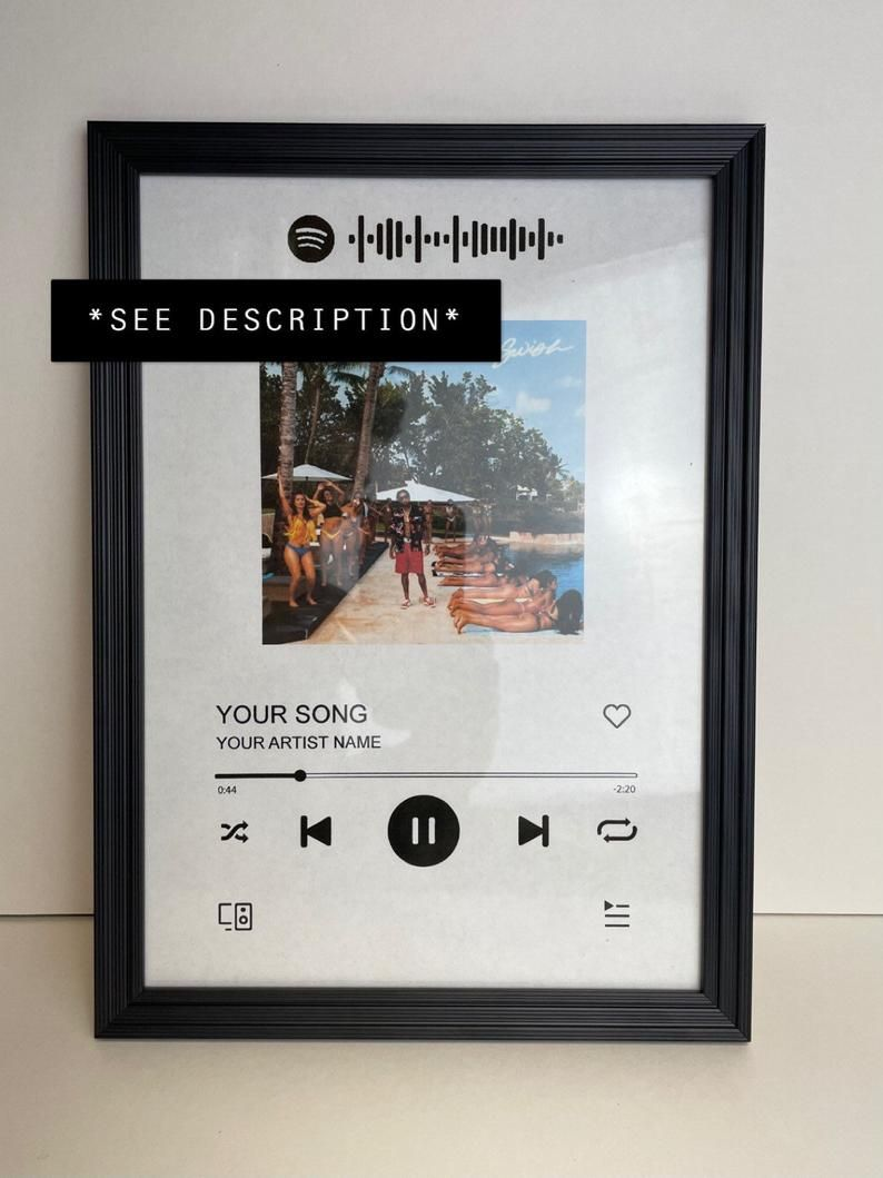 Acrylic Spotify Song Frame Engraved Etsy Diy Picture Frames Cute Boyfriend Gifts Frame