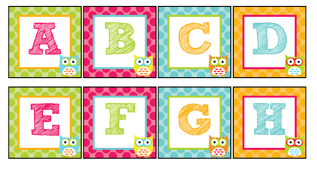 The Teaching Sweet Shoppe Owl Themed Alphabet For Your Word Wall