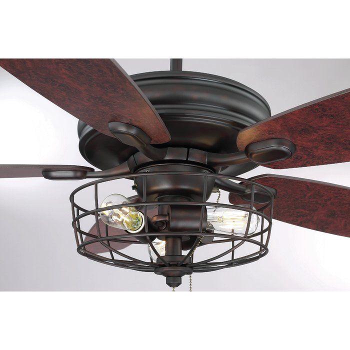 52 Glenpool 5 Blade Ceiling Fan Light Kit Included Bronze