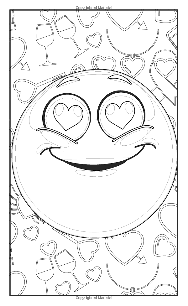 Emoji Love Coloring Book 30 Cute Fun Pages For Adults Teens And Kids Great Party Gift Travel Size Officially Licensed Series