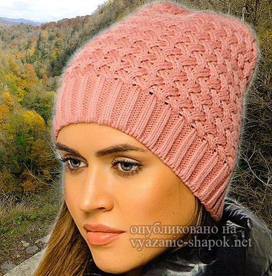 Как связать шапку Canoe спицами   вязаные шапки, шарфы ...
