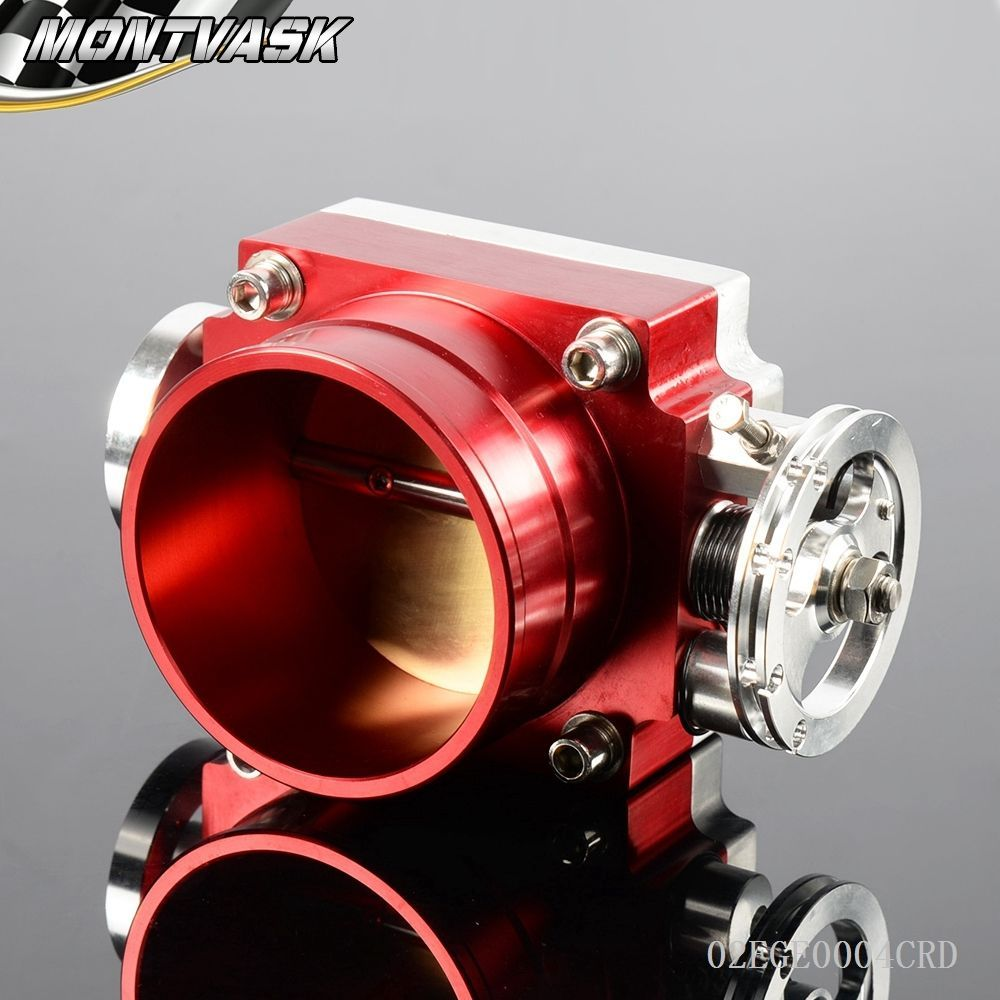 80MM Throttle Body Performance Intake Manifold Billet Aluminum High Flow RD