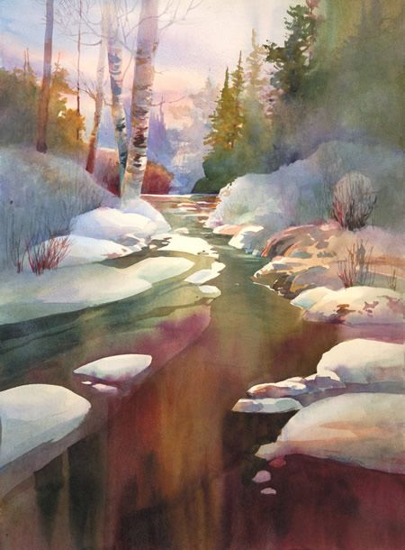 Nov 12 Walk In The Sunshine Famous Watercolor Artists