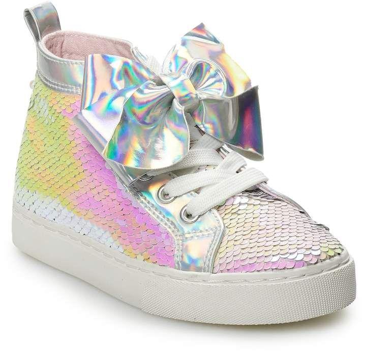 Jojo Siwa Big Girl Pink Bow /& Sequin Sneakers