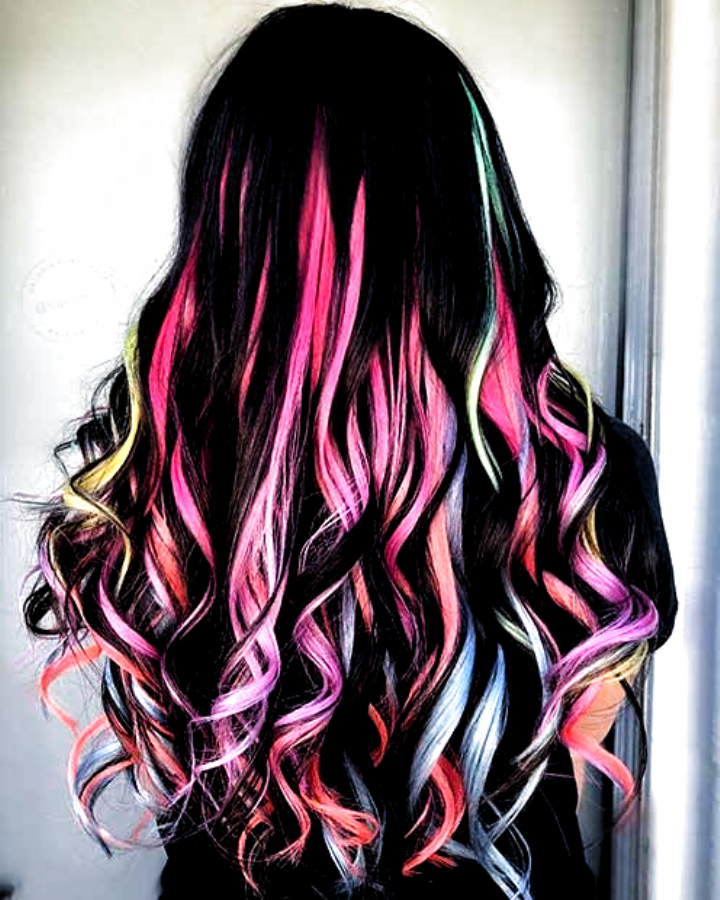 21 Unicorn Hair Color Ideas Were Obsessed With Page 2 Of 2 Stayglam Hair Lengths Long Hair Color Crazy Hair Length Chart Blonde Hair Color
