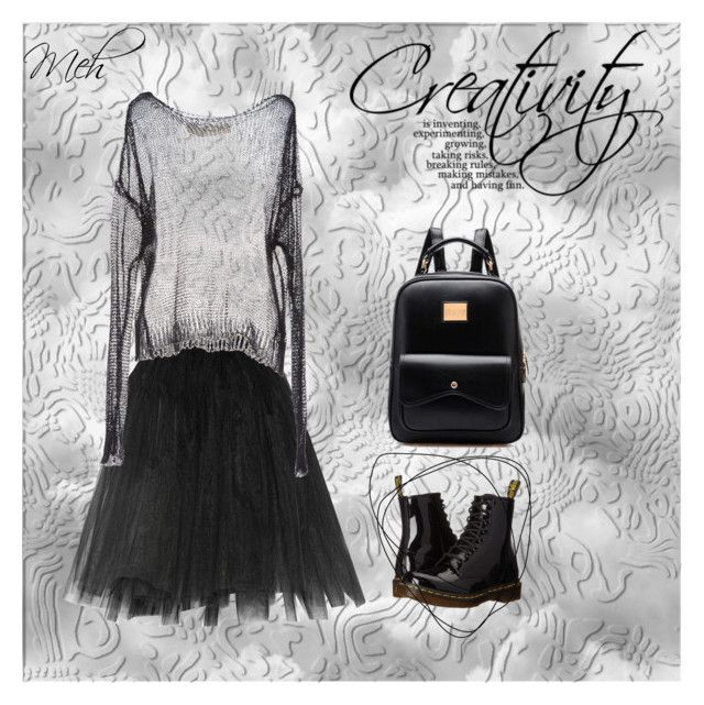 """""""Creativity"""" by weirnixie ❤ liked on Polyvore featuring Ballet Beautiful, ISABEL BENENATO and Dr. Martens"""