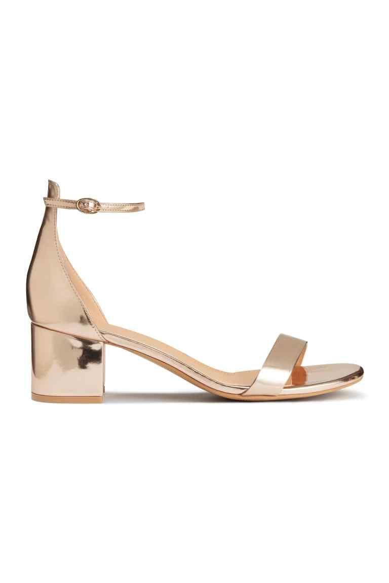Sandales plates en cuir Cuir caoutchouc Hauteur du talon : < à 3 cm
