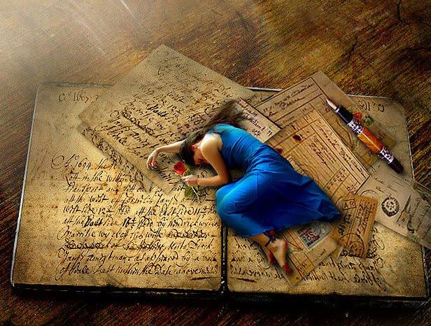 Resultado de imagen de mujer escribiendo pintura