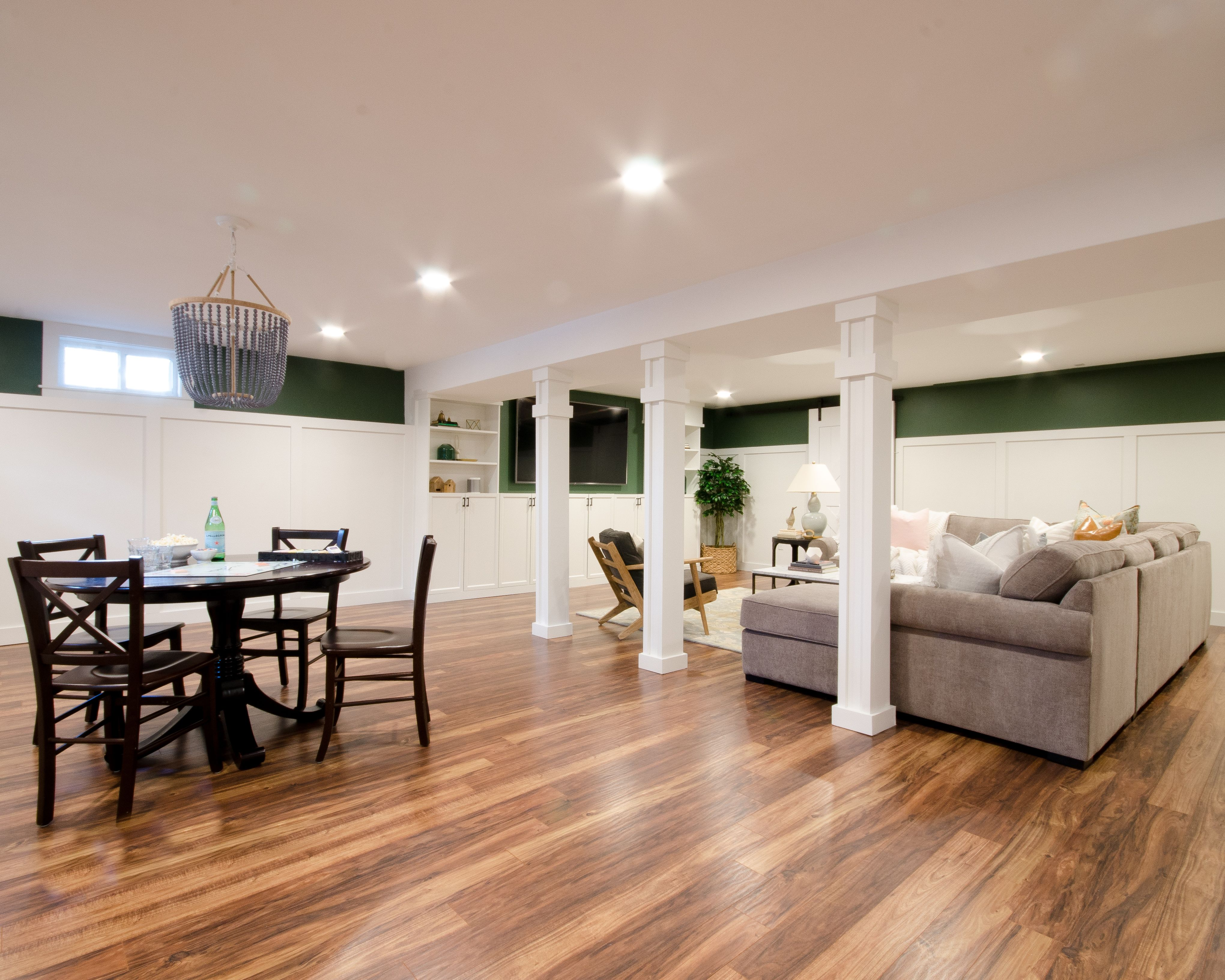 Photo of Finished Basement Family Room Makeover Start to Finish