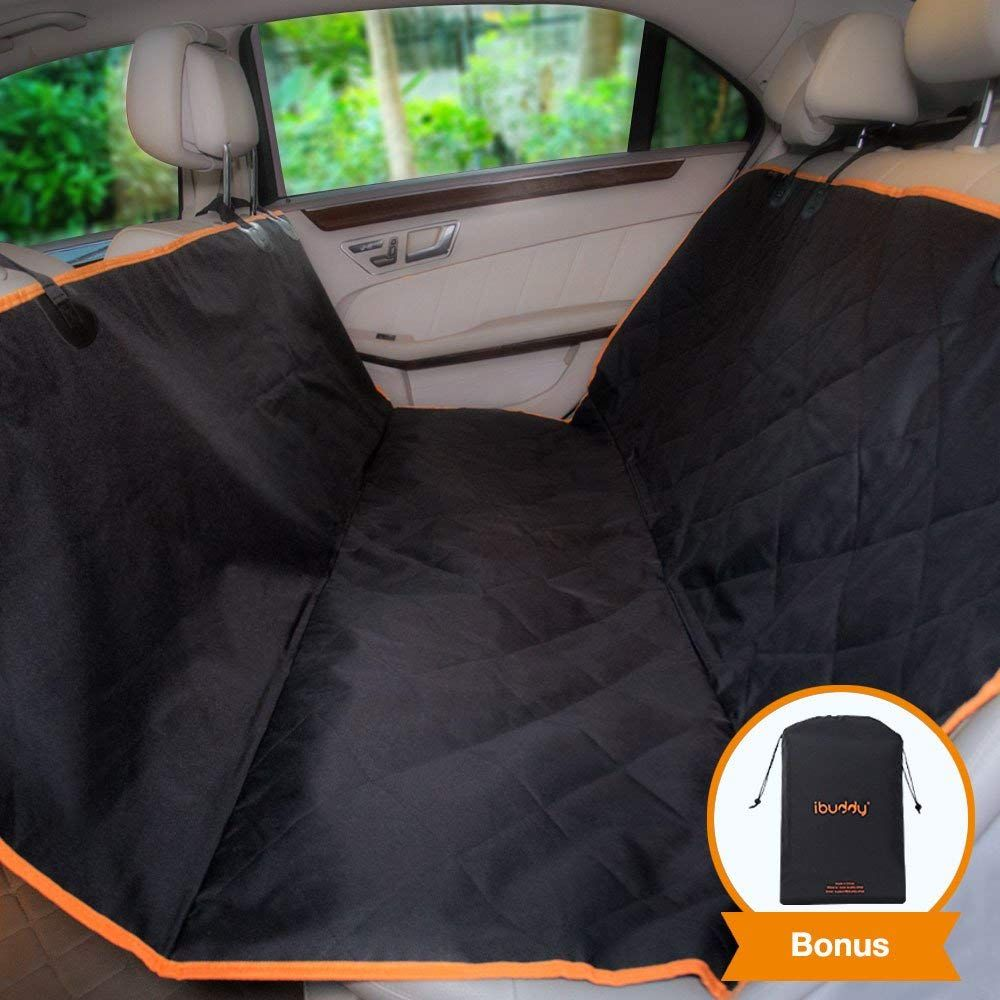 IBuddy Dog Seat Cover Hammock For Back Of Cars SUV Waterproof Car Covers With Padded Cotton Anti Scratch Nonslip Washable Durable Pet