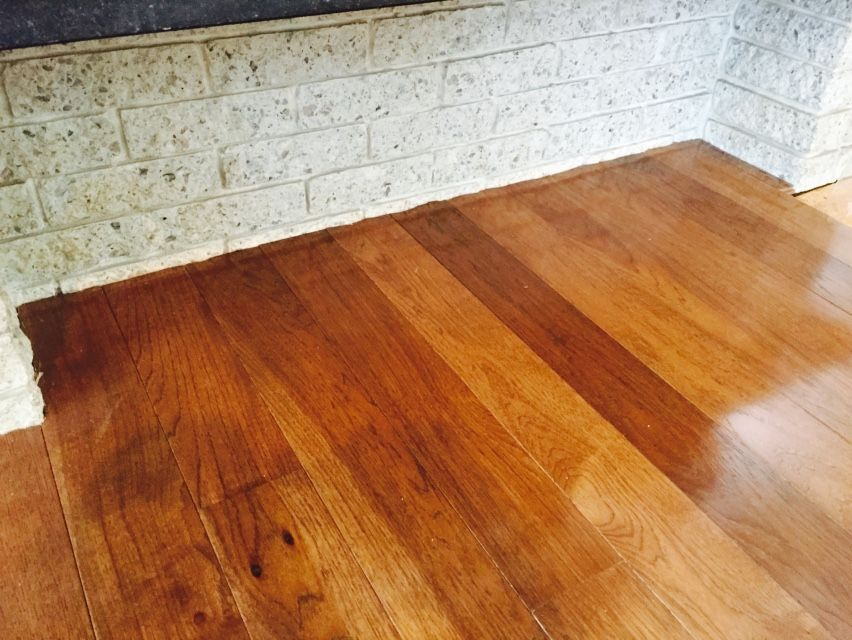 4 Micro V Groove Hickory Hardwood Floor With Traditional Cherry Stain And Semi Gloss Finish Scrib Hardwood Floors Wood Floors Wide Plank Solid Hardwood Floors