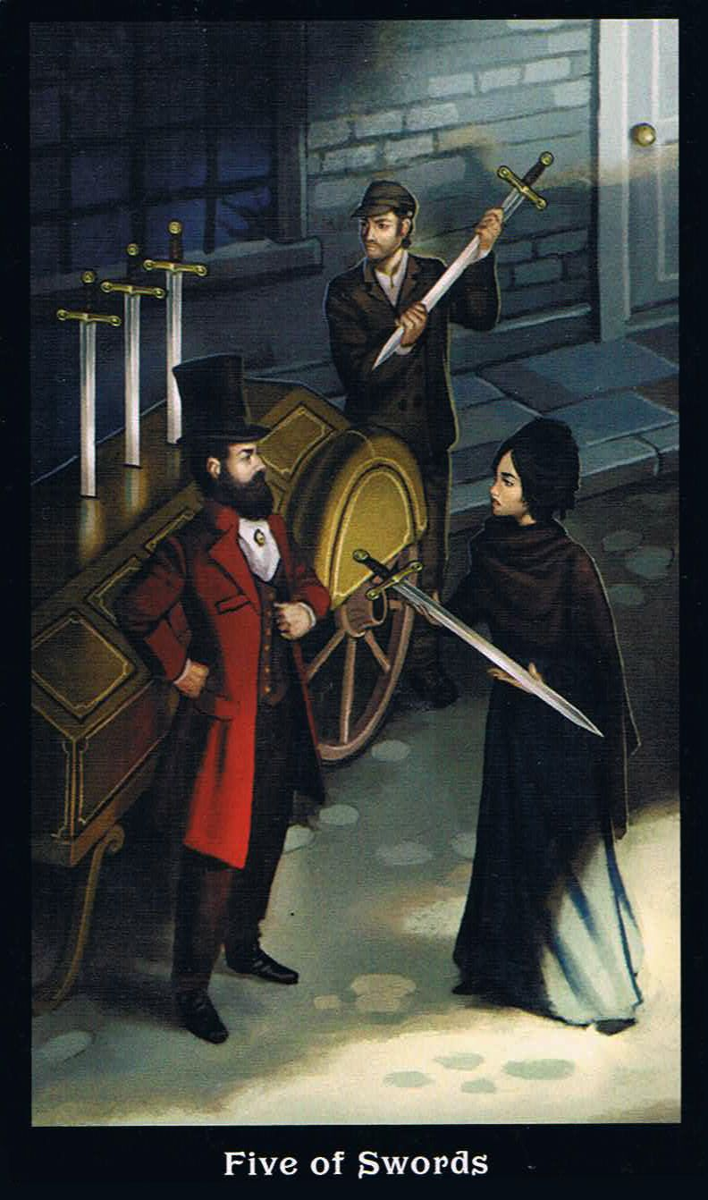 The Five Of Swords - Steampunk Tarot
