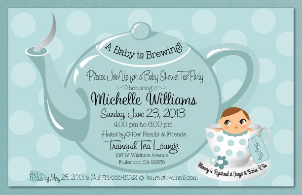 Invitation Tea Party Baby Shower