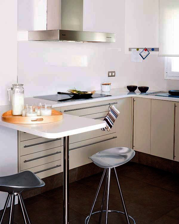 Doce cocinas con barra y sus planos cocinas con barra - Planos cocinas pequenas ...