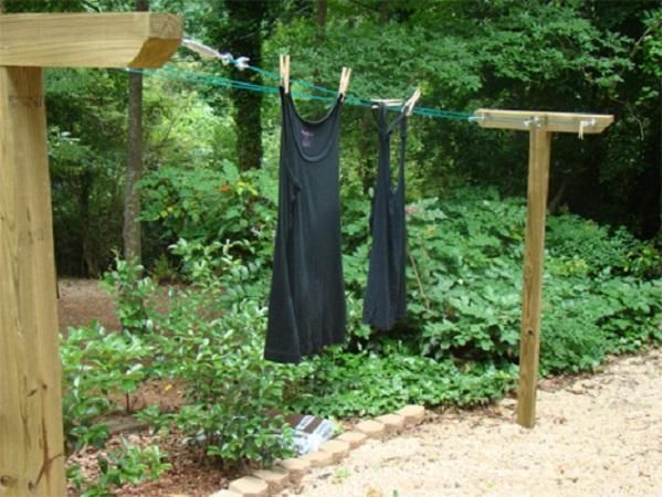 How To Build A Clothesline How To Make A Clothesline How To Make Diy Clothesline In Garden