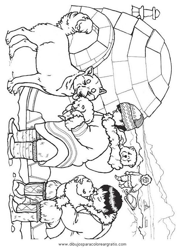 igloo_esquimal. | coloriages pour enfants | Pinterest | Polo norte ...