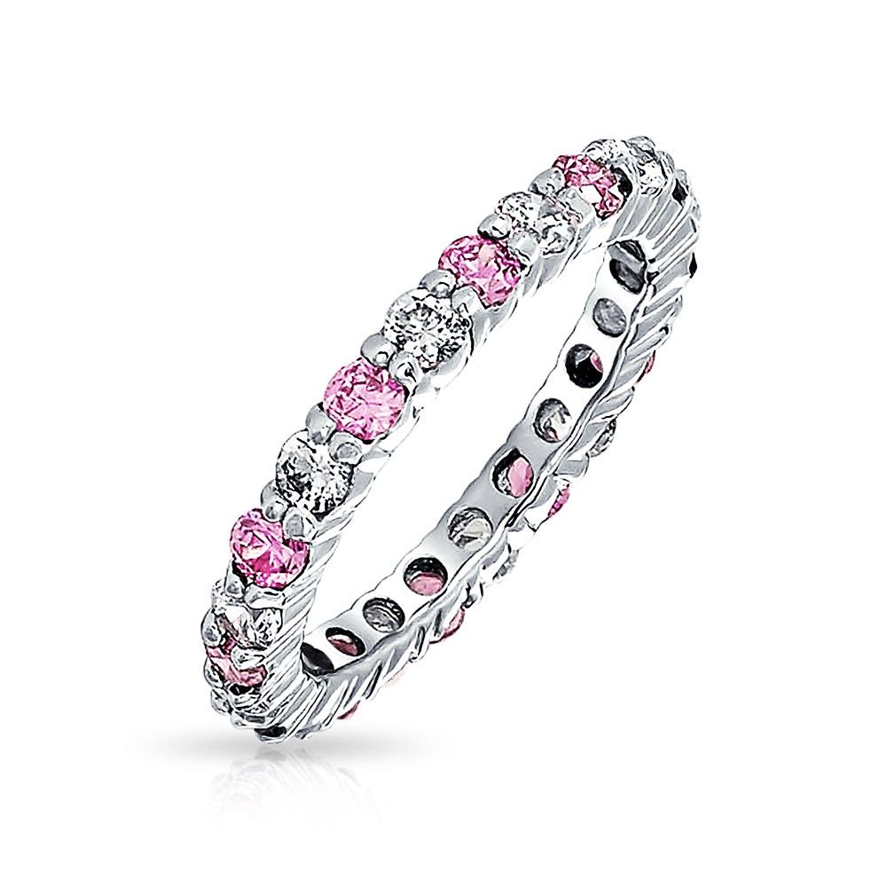 Pink Topaz - Cherishing Pink Birth Eternity Ring