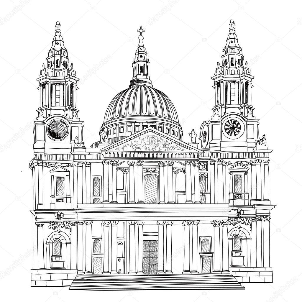 Картинки по запросу собор святого павла лондон рисунок (с ...