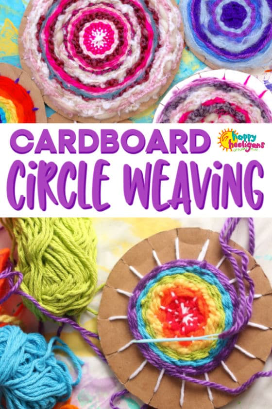 Easy Cardboard Circle Weaving for Kids - Happy Hooligans -   23 fabric crafts for kids to make ideas
