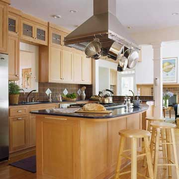 kitchen island with range cabinet stand alone hood ideas my better homes and gardens dream home rail handy i would love like the pot rack hoodvent