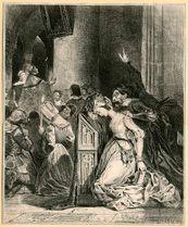 Eugène Delacroix, Marguerite à l'Eglise, lithographie