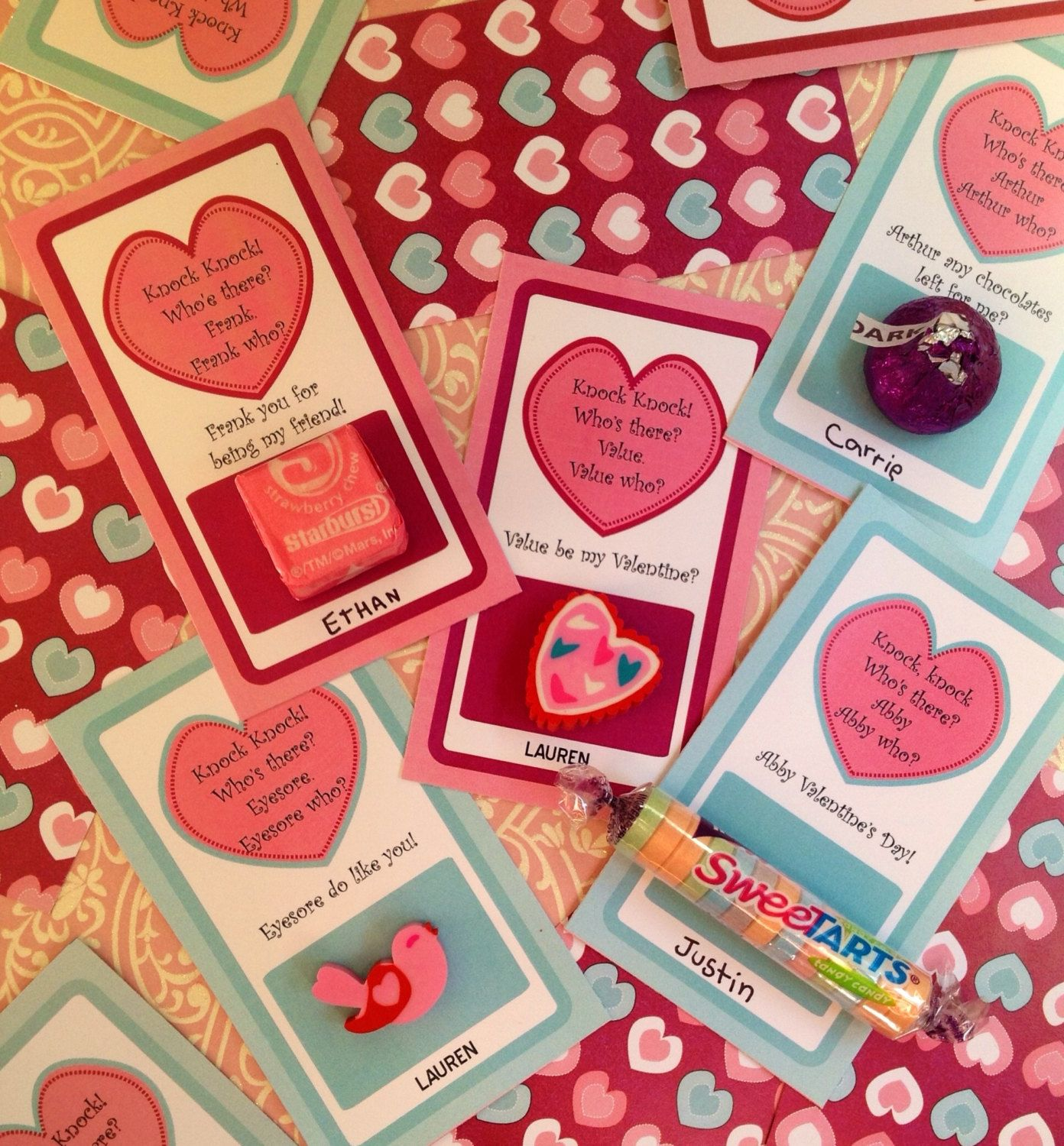 printable diy valentine school party favors for kids valentine knock knock jokes valentine gift for children