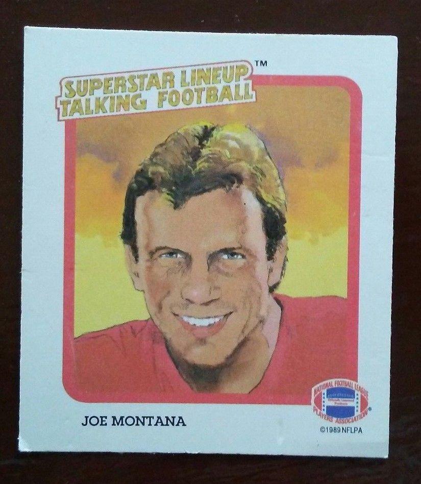 Superstar Lineup Talking Football Card Joe Montana