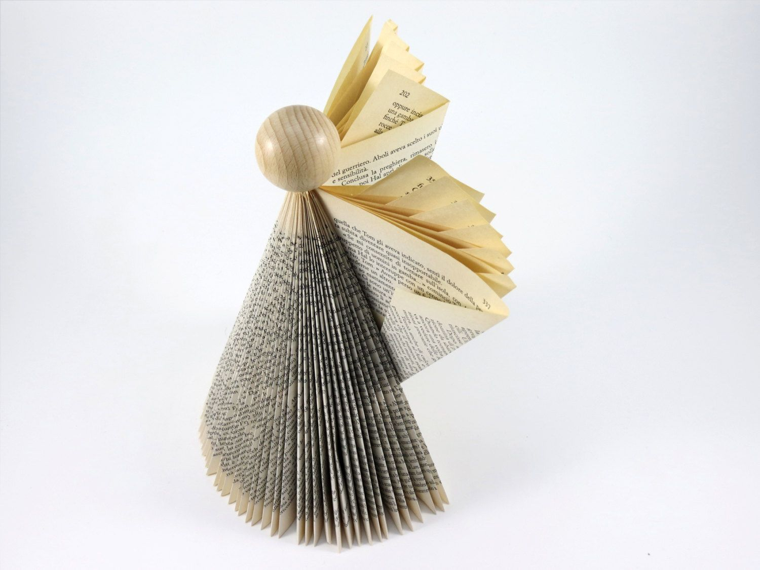 Origami Angel - Paper Art Angel - Folded Book Angel ... - photo#48