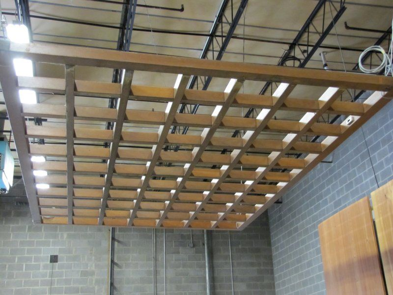 Wood Grid Ceiling Store Pinterest Ceiling Woods And